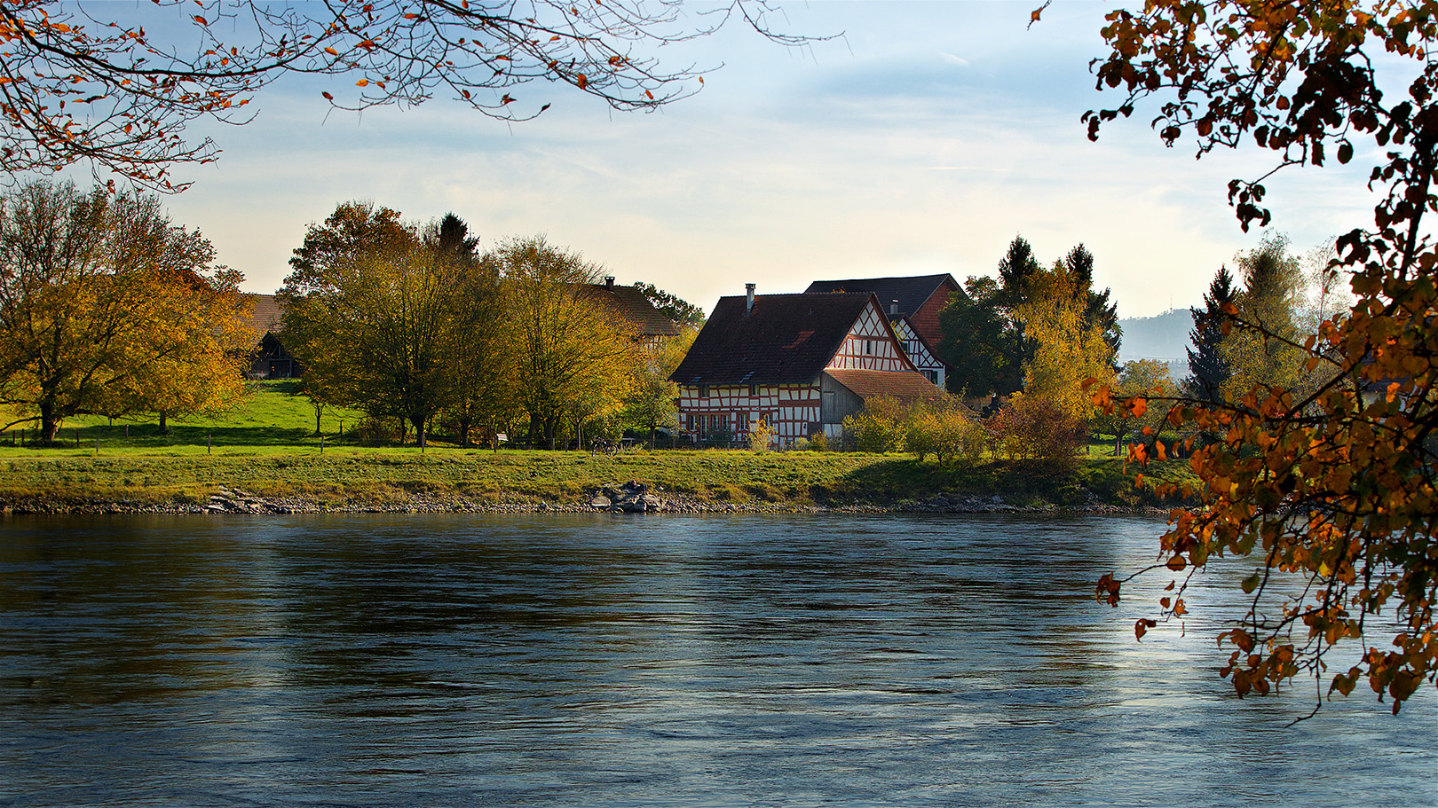 The river Rijn between Ellikon ( Swiss ) and Lottstetten ( Germany ) ,